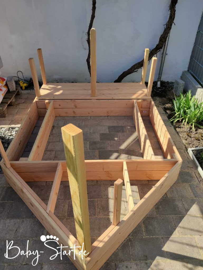 Schritt 5 Sandkasten Piratenschiff 769x1024 - Sandkasten Piratenschiff DIY 2021: Die ultimative Bauanleitung inkl. kostenlosem Download