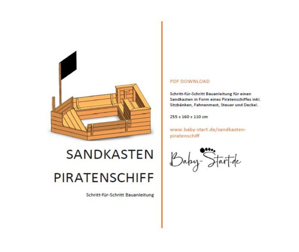 Titelblatt 1 1024x864 - Sandkasten Piratenschiff DIY 2021: Die ultimative Bauanleitung inkl. kostenlosem Download