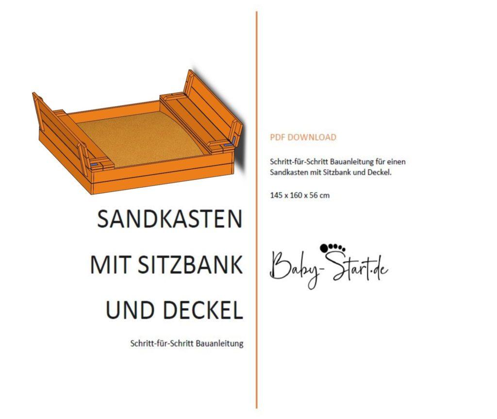 Titelseite 1024x864 - Sandkasten mit Sitzbank bauen 2021: Einfache Bauanleitung inkl. kostenlosem Download