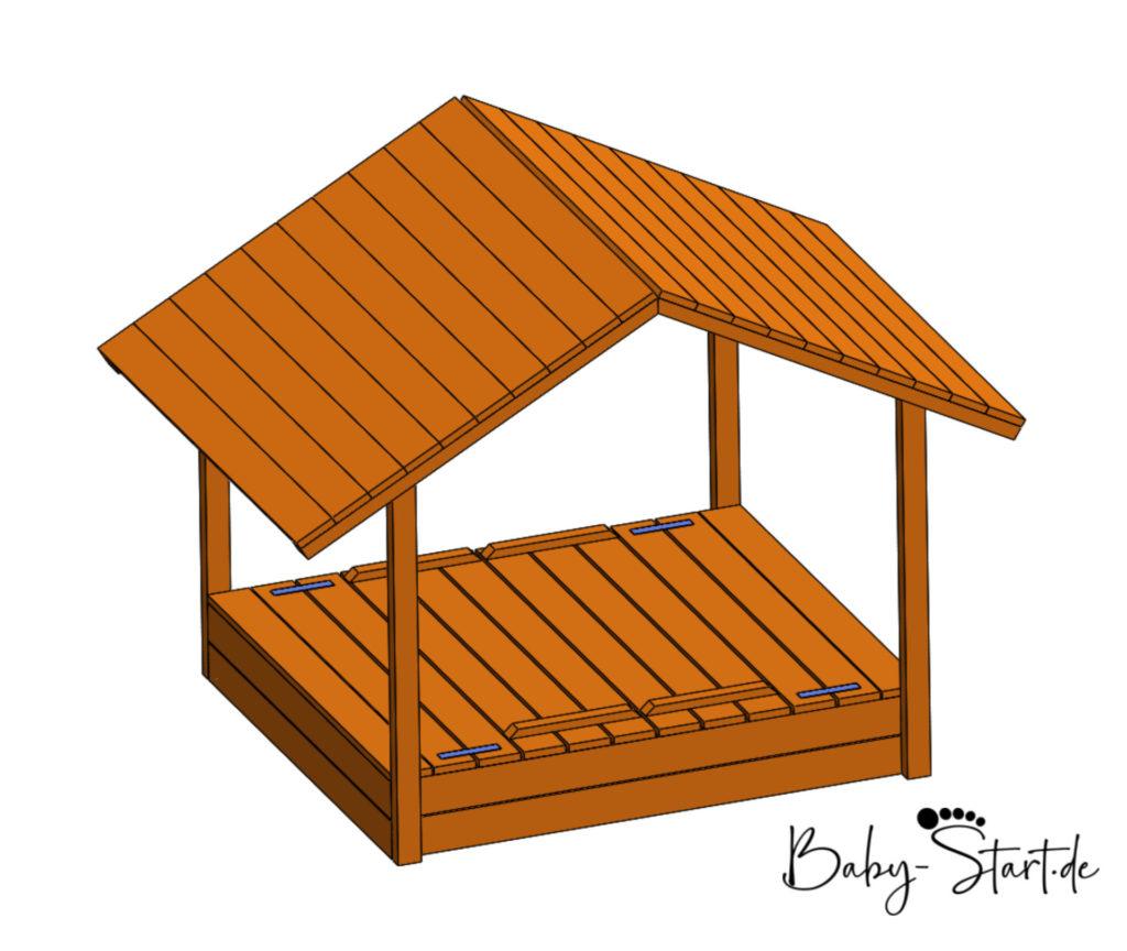sandkasten mit dach geschlossen etsy 1024x864 - Sandkasten mit Sitzbank bauen 2021: Einfache Bauanleitung inkl. kostenlosem Download