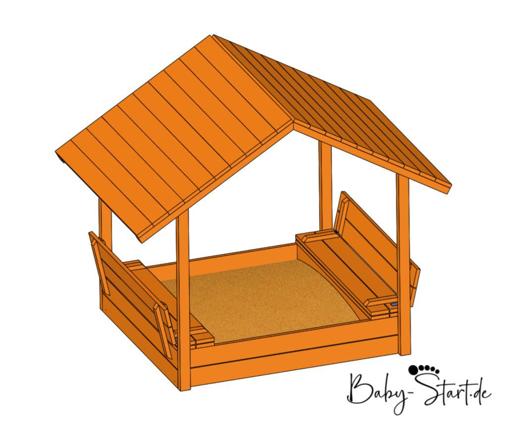 sandkasten mit dach offen etsy 1024x864 - Sandkasten mit Sitzbank bauen 2021: Einfache Bauanleitung inkl. kostenlosem Download